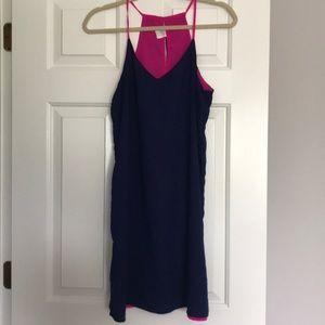 Reversible Hot Pink/Navy Blue Dress!
